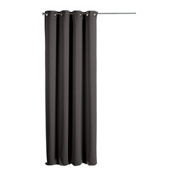 Evideco - Blackout Window Curtain Panels Square Grommets Cocoon  grey - This elegant blackout window curtain panel COCOON with square grommets provides an excellent blend of fashion and blackout technology, helps to block light, reduce noise, save on energy costs and stay out of sight while adding an elegant and decorative to
