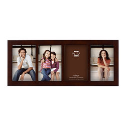 Origin Crafts - Carolina dark walnut 4 picture collage frame 4x6 (one left) - Carolina Dark Walnut 4 Picture Collage Frame Natural Pine wood,, two-way easel, wall hangers. Dimensions (in):Holds 4x6 photographs. By Prinz - Prinz is a leading supplier of picture frames. At Prinz they are committed to offering unsurpassed design, quality, and value. Ships within five business days.
