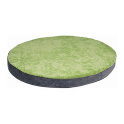 DenHaus - BowHaus Bed Small Pet Den - - Custom-made of high quality foam with a removable, washable outer cover in the softest microfiber we could find, your pet deserves this super-floppable bed that fits perfectly into the BowHaus Pet Den. - Change your fabric with your mood with this versatile bed with green apple on one side and steel gray on the other. - Ideal comfort to satisfy your dog's natural craving for reassurance and warmth.- Weight: 4 lbs.