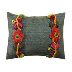 Homespice Decor - Homespice Decor Floral Vines Throw Pillow Multicolor - 211545 - Shop for Pillows from Hayneedle.com! Bright hand-hooked vines of flowers grace the Homespice Decor Floral Vines Throw Pillow. Smart herringbone gets a crafty twist with this cozy pillow's strongly textural floral embellishments.About Homespice DecorProducing quality homemade products since 1998 Homespice Decor has become an industry leader in braided rugs (outdoor indoor wool cotton) and has expanded its line to include penny rugs rag rugs and its newest - Supernova rugs - which feature a swirling star braid design. Formerly known as J Quilts Company Homespice Decor shifted its focus from quilts to rugs pouring itself into the intricate details of braided rug craftsmanship. Homespice Decor is committed to providing affordable braided rugs of the highest quality in an abundance of sizes and styles.