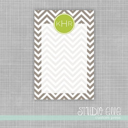 Chevron Monogram Dry Erase Memo Board by Studio Elle - Note-taking is an important aspect to staying on top of projects, and doing so sustainably with this customizable, dry erase board is even better.
