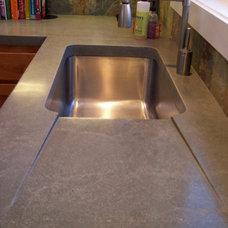 Contemporary Kitchen by L3 Concrete Designs, LLC