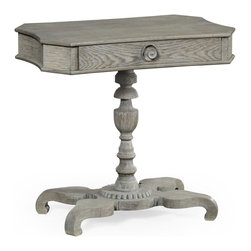 Jonathan Charles - Jonathan Charles Table, Polka Dot Grayed - Product Details