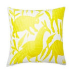 5 Surry Lane - Mexican Hand Embroidered Otomi Yellow Pillow - Warm up your sofa or bedding with a colorful throw pillow. The rich and storied pattern originates with the Otomi Indians of Mexico, and is still hand-embroidered by them today. Pick from two sizes and six vibrant colors to complement your well-traveled aesthetic.