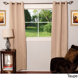 None - Light-reducing Thermal Woven Grommet Top Curtain Panel Pair - Block out light and excess noise with these simultaneously fashion-forward curtains. Designed with grommet tops,these energy-saving curtains come in a variety of silky polyester color options.