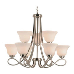 Trans Globe Lighting - Trans Globe Lighting 9559 BN Chandelier In Brushed Nickel - Part Number: 9559 BN