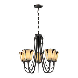 Dale Tiffany - Dale Tiffany TH12429 San Antonio 5 Light Chandeliers in Dark Bronze - This 5 light Chandelier from the San Antonio collection by Dale Tiffany will enhance your home with a perfect mix of form and function. The features include a Dark Bronze finish applied by experts. This item qualifies for free shipping!