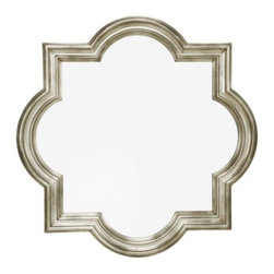 Z Gallerie - Quatrefoil Mirror - We've taken a centuries old architectural design motif and adapted it to create our handsome Quatrefoil Mirror. The classic quatrefoil design, composed of four overlapping circles with a square overlay, is rendered in a beautifully molded frame finished in rich sophisticated champagne hue.
