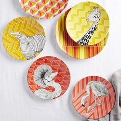 Animal Geo Melamine Plate - For the young at heart, how about these melamine animal plates? Well, really, who needs an excuse to use these adorable guys? They're for any age, we think.