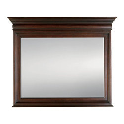 Stanley - City Club Barrister Mirror - Straight lines and sharp edges serve to define more than the rule of law. Our stacked top Barrister Mirror is a crisp addition to any dresser. Finished in layer upon layer of decorative molding, the royal crown top line flares to draw the eye outward. With a bevel cut inset mirror, this functional accent is a timeless way to expand the visual impact of a room.