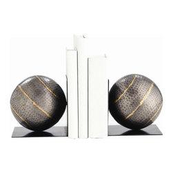 Arteriors - Arteriors 2695 Gauge Bookends, Set of 2 - Arteriors 2695 Gauge Bookends, Set of 2 made with Natural Iron/Brass Welds.
