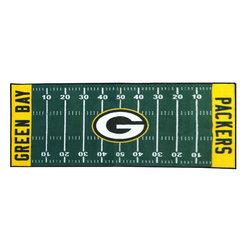 Fanmats - NFL Green Bay Packers Football Runner Rug - Features: