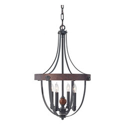 Murray Feiss - Murray Feiss F2798/4AF/CBA Alston 4 Bulb AF/Charcoal Brick/Acorn Chandelier - Murray Feiss F2798/4AF/CBA Alston 4 Bulb AF/Charcoal Brick/Acorn Chandelier