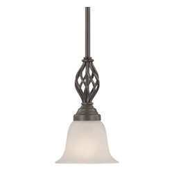 Dolan Designs Lighting - Mini-Pendant with Basket Weave Design - 186-34 - This mini-pendant features a basket weave design that adds a touch of old world charm to your kitchen. Takes (1) 100-watt incandescent A19 bulb(s). Bulb(s) sold separately. UL listed. Dry location rated.