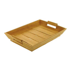 Westminster Teak Furniture - Westminster Teak Butler Serving Tray - Imagine breakfast in bed, cocktails on your deck or burger fixin's for a barbecue; put the teak butler serving tray to use! Made from the finest cuts of plantation grown teak, this tray has a lifetime warranty and is equally useful indoors and out.
