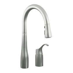 KOHLER - KOHLER K-647-VS Simplice Pull-Down Kitchen Sink Faucet - KOHLER K-647-VS Simplice Pull-Down Kitchen Sink Faucet in Stainless Steel