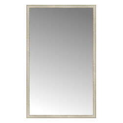 """Posters 2 Prints, LLC - 46"""" x 75"""" Libretto Antique Silver Custom Framed Mirror - 46"""" x 75"""" Custom Framed Mirror made by Posters 2 Prints. Standard glass with unrivaled selection of crafted mirror frames.  Protected with category II safety backing to keep glass fragments together should the mirror be accidentally broken.  Safe arrival guaranteed.  Made in the United States of America"""