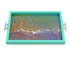 My Méz - Waves Tray/Wall Art with Boat Cleat Handles - It's a tray; It's wall art. It's BOTH, and It's Made In the USA!