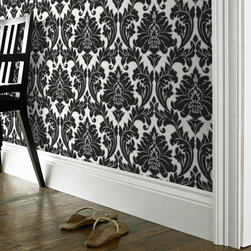 Graham & Brown - Majestic Wallpaper - Dramatic contemporary damask, enriched with a rich lustrous treatment. A simple elegant statement