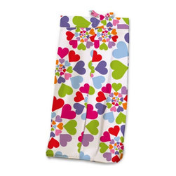 Room Magic - Room Magic Heart Throb Diaper Stacker - RM17-HT - Shop for Diaper Stackers from Hayneedle.com! Your baby girl's heart will throb over the Room Magic Heart Throb Diaper Stacker. Made with a designer print this adorable diaper stacker pictures graphic swirls of multicolored hearts. Completely made with cotton poplin this quality stacker keeps diapers right next to where you need them most in the nursery without taking up extra changing table space.About Room MagicRoom Magic doesn't just make children's furniture; they design furniture specifically for children using the magic of childhood imagination and creativity as a guiding principle. Beginning in 1999 with graphic designer Karen Andrea's attempt to create a truly lively and unique room for her five-year-old daughter Sarah the company has maintained a focus on using bright colors and unique themes that steer clear of cliched motifs. Bright and bold playful cut outs decorate the quality hardwood pieces finished with beautiful stains. With collections that are geared both to boys and to girls Room Magic provides the furniture accessories and bedding you need to bring the magical fun of childhood to your kids' rooms.