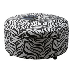 Uttermost - Uttermost Zea Zebra Storage Ottoman - Zea Zebra Storage Ottoman by Uttermost Generous Storage With Padded, Lift-off Top Suitable For Extra Seating. Wooden Frame With Zebra Patterned Tapestry And Espresso Wooden Feet.