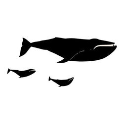 Whale Family Wall Decal - Some wall decals may come in multiple pieces due to the size of the design.