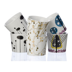 Ferm Living Thermo Mugs - I just love all three designs on these adorable little mugs. Dramatically graphic yet with a nod to nature's own simplistic designs, these are sure to bring a smile to your face during your morning coffee.