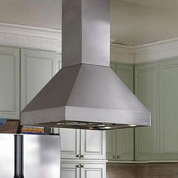 Vent-A-Hood - EPIH18-242 SS Island Range Hoods with 600 CFM Inline Blower & 2-Level Halogen Li - The Euroline Pro Series is a sleek European-style island hood which can provide a dramatic focal point in the midst of all the motion in your kitchen This hood is available with 2-Level Halogen lighting and a SensaSource heat sensor feature which con...