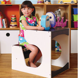 Childrens Desk by Pkolino - Exceptionally charming and cleverly compact this fun-loving play space is a great addition to any home. With it's storage shelf under the seat and it's large working surface both parents and children will fall in love with this playful desk. Designed for children ages 2 to 6.