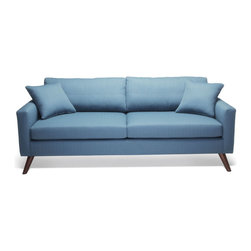 True Modern - Dane Condo Sofa, Mouse - Sleek, simple and sexy design perfectly come together for this sofa - ideal for a smaller living room or studio apartment. The modern lines make this couch compatible with just about any type of complementary furniture you can throw at it. Pillows not included.
