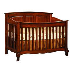 Chelsea Home Furniture - Chelsea Home Lincolnshire Crib in Amber - As children go through stages as they grow  so should their furniture. The Lincolnshire Convertible Crib Set in Brown Maple solid wood and Amber finish  is a 3-stage bed system that is constructed with quality and durability to transition any newborn into adulthood with elegance. The crib comes with paneled backboard detail and curved embellishment at the base and feet. This CPSC 16 CFR 1219 & 1220 compliant convertible piece is complete with guard rail and 3-level mattress support  and simple transition instructions to keep your child resting easy and comfortable.