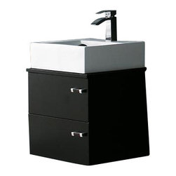 """Vigo - VIGO VG09002104K1 22"""" Bathroom Vanity - Stack up the style with this stately vanity. You'll adore the little surprises in this design, like the right-of-center drawer pulls and the shapely ceramic sink. Did you say you had a small space? This one fits perfectly."""