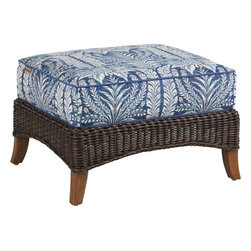 Lexington - Tommy Bahama Island Estate Lanai Ottoman - The ottoman is the truest invitation for family and guests alike to make themselves at home. It ensures them your intent is to creating a relaxing environment where kicking your feet up is not only permissable but also intended for their enjoyment.