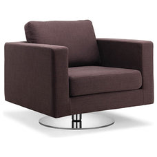 Modern Chairs Portobello Coffee Swivel Easy Chair