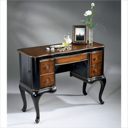 Butler Specialty - Butler Specialty Artists' Originals Wood Makeup Vanity Table - Butler Specialty - Bedroom Vanities - 0735104. Add a sparkle of Victorian elegance to your room with the Butler Specialty Artists' Originals Vanity in Cafe Noir Finish. Featuring rich dark hardwood with cherry veneers this table is an eye-catching centerpiece. Add to that hardwood construction and plus, felt-lined drawers and you've got a functional piece that is made to last and become a classic piece in your home.
