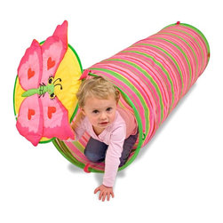 Melissa & Doug - Melissa and Doug Bella Butterfly Tunnel - 6200 - Shop for Tents and Playhouses from Hayneedle.com! Your daughter will love playing on the sand with the Bella Butterfly Tunnel. Made from durable pink material with a sturdy padded steel frame this tunnel can be used either indoors or outdoors. It folds up easily for storage. Recommended for children 3 and up. Dimensions: 22L x 18.5W x 3H inches. About Melissa & Doug ToysSince 1988 Melissa & Doug have grown into a beloved children's product company. They're known for their quality educational toys and items and have grown in double digits annually. The Melissa & Doug company has been named Vendor of the Year by such great retailers as FAO Schwarz Toys R Us and Learning Express and their toys have been honored as Toys of the Year by Child Magazine FamilyFun Magazine and Parenting Magazine. Melissa & Doug - caring quality children's products.