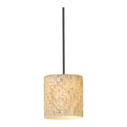 Varaluz - Varaluz 161M01ST Naturals 1 Light Mini Pendants in Matte Black - This 1 light Mini Pendant from the Naturals collection by Varaluz will enhance your home with a perfect mix of form and function. The features include a Matte Black finish applied by experts. This item qualifies for free shipping!