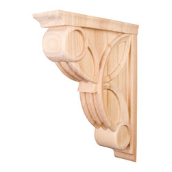 Hardware Resources - Cherry Celtic Weave Corbels - 3In. x 11-5/16In. x 14In. Celtic Weave Corbel Species: Cherry. Made in the USA.