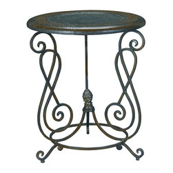 Hammary - Hammary T72235-00 Hidden Treasures Accent Table w/ Ostrich Embossed Leather Top - The Hidden Treasures collection is a fabulous assortment of one-of-a-kind accent pieces inspired by the greatest furniture designs from around the world. Each selection is a true treasure - rich in old world icons and traditions. All the pieces in this collection are crafted with attention to every detail. From brass nailhead trim and exquisite hand-painting to elegant shaping and decorative trim, every item is a unique work of art. A wide variety of materials is used to create the perfect look and finest quality - from exotic woods, leather and stone to raffia and glass. The huge selection of finishes, hardware, exceptional carvings and other final touches offer unsurpassed versatility for any room in the home. Hidden Treasures includes cocktail tables, occasional and accent pieces, trunks, chests, consoles, wine racks, desks, entertainment units and interesting storage pieces. Place one in a comfortable reading nook... In the family room for flair and variety... In the foyer for a welcome look... In a bedroom for cozy style... Or in the office for function and versatility. The pieces in this collection mix beautifully with any decorating style and will easily become the focal point in any setting.