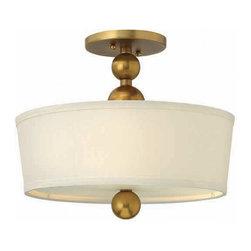 Hinkley Lighting - Hinkley Lighting 3441VS Zelda Vintage Brass Semi-Flush Mount - Hinkley Lighting 3441VS Zelda Vintage Brass Semi-Flush Mount