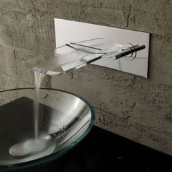 Waterfall Faucets - Contemporary Single Handle Waterfall Bathroom Sink Faucet