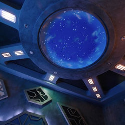 Stargate Theater - This client dreamed of having a Stargate themed home theater. Visual Concepts from Louisville, KY, put this theater together which featured our 6' Rotunda StarDome. The outcome of this theater was absolutely amazing! See our photo gallery on our website for more!