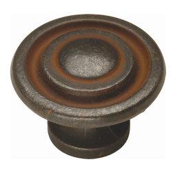 Hickory Hardware - Manchester Knob (Set of 10) (Rustic Iron) - Finish: Rustic Iron