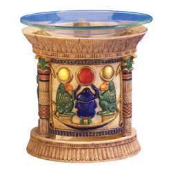 TLT - 5 Inch Hand Painted Resin Egyptian Design Scarab Attar Burner - This gorgeous 5 Inch Hand Painted Resin Egyptian Design Scarab Attar Burner  has the finest details and highest quality you will find anywhere! 5 Inch Hand Painted Resin Egyptian Design Scarab Attar Burner  is truly remarkable.