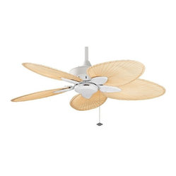Windpointe Ceiling Fan in Matte White with Palm Blades