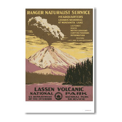 PosterEnvy - Lassen Volcanic National Park, Vintage Poster Reproduction - Lassen Volcanic National Park, Vintage Poster Reproduction