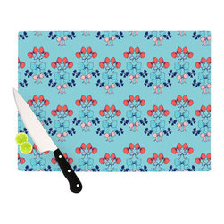 """Kess InHouse - Anneline Sophia """"Bows"""" Cutting Board (11.5"""" x 15.75"""") - These sturdy tempered glass cutting boards will make everything you chop look like a Dutch painting. Perfect the art of cooking with your KESS InHouse unique art cutting board. Go for patterns or painted, either way this non-skid, dishwasher safe cutting board is perfect for preparing any artistic dinner or serving. Cut, chop, serve or frame, all of these unique cutting boards are gorgeous."""