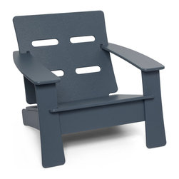 Loll Designs - Cabrio Lounge Chair, Charcoal Grey - Just looking at this inviting lounge chair starts to calm the nerves. You can let go of the day, as the ventilated seat back helps keep you cool. Relax in knowing the rest of the thoughtful design is doing its job.