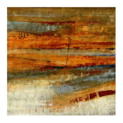Rustic Abstract - You can almost picture a desert in the warm rusty colors of this art piece, a great starting point for a rustic eclectic look!