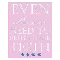 Oh How Cute Kids by Serena Bowman - Even Mermaids Teeth, Ready To Hang Canvas Kid's Wall Decor, 8 X 10 - Each kid is unique in his/her own way, so why shouldn't their wall decor be as well! With our extensive selection of canvas wall art for kids, from princesses to spaceships, from cowboys to traveling girls, we'll help you find that perfect piece for your special one.  Or you can fill the entire room with our imaginative art; every canvas is part of a coordinated series, an easy way to provide a complete and unified look for any room.